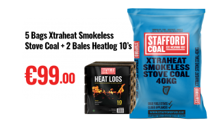 xtraheat smokeless stove coal 40kg dublin wicklow delivery